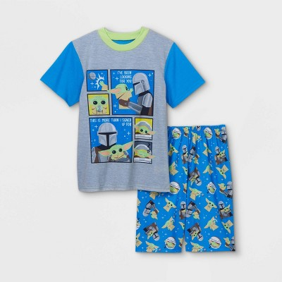 Boys' Star Wars The Mandalorian 2pc Pajama Set - Blue
