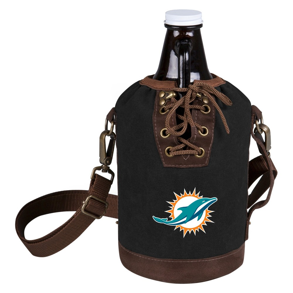 Growler Tote With Growler Miami Dolphins Black Digital Print