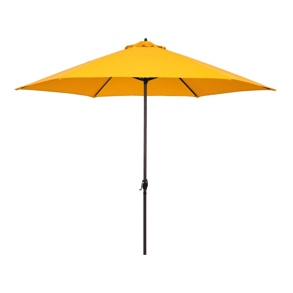 Image of 11' Patio Umbrella - Aluminum Pole with Crank Lift Yellow - Astella