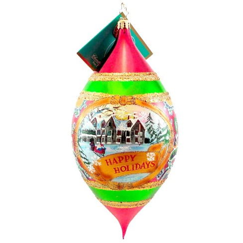 Christopher Radko Tarrytown Wishes Ornament Happy Holidays Drop - image 1 of 2