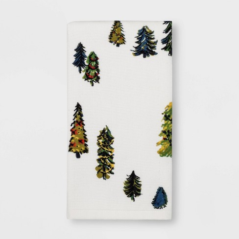 Garland Tree Hand Towel White Feather - Threshold™ - image 1 of 1