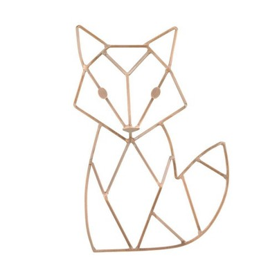NoJo Fox Shaped Wire Nursery Wall Decor Copper Finish