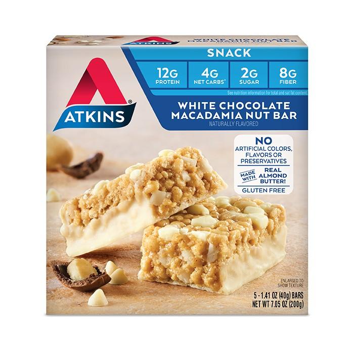 Atkins Snack Bars - White Chocolate Macadamia Nut - 5ct - image 1 of 2