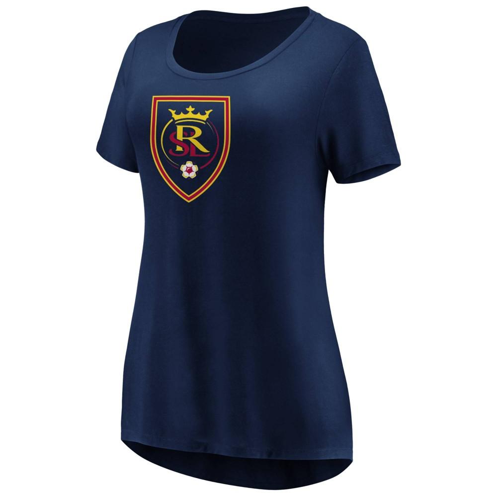 Mls Women's Short Sleeve Scoop Neck T-Shirt Real Salt Lake - M, Multicolored