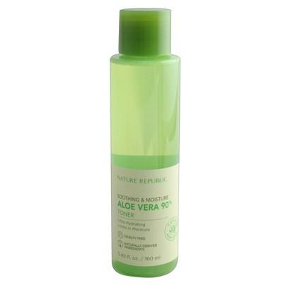 Nature Republic Soothing &Amp; Moisture Aloe Vera 90% Toner   5.4 Fl Oz by 5.4 Fl Oz