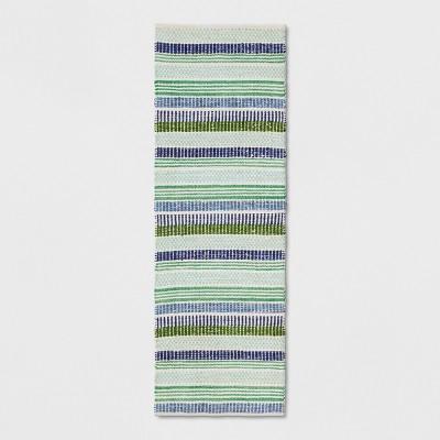 Blue/Green Striped Woven Rug - Threshold™