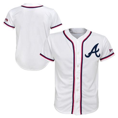 on sale 59b3a b0c0c MLB Atlanta Braves Boys' White Team Jersey