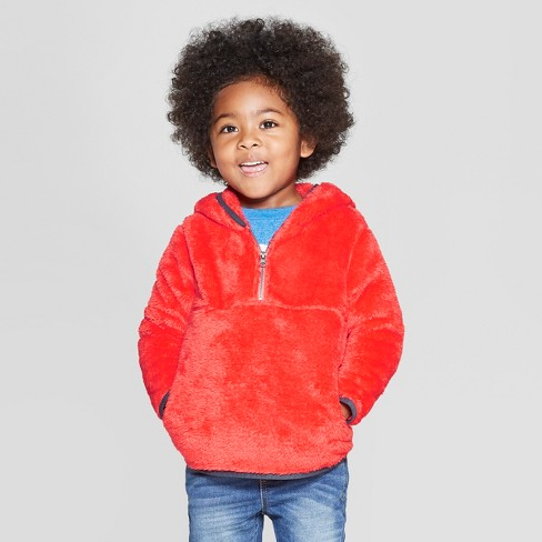 95cc7ab5bfc9 Toddler Boys  Teddy Bear Fleece Hoodie - Cat   Jack™ Dark Orange ...
