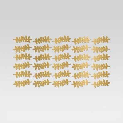 Leaf Design Removable Wall Decal Light Gold - Room Essentials™
