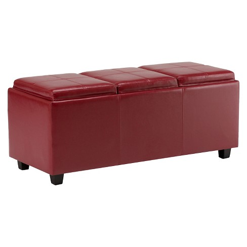 Franklin Storage Ottoman in Faux Leather - Wyndenhall - image 1 of 6