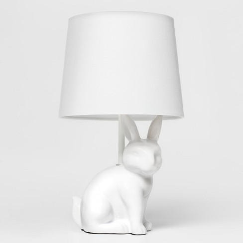 Bunny Table Lamp White - Pillowfort™ - image 1 of 4