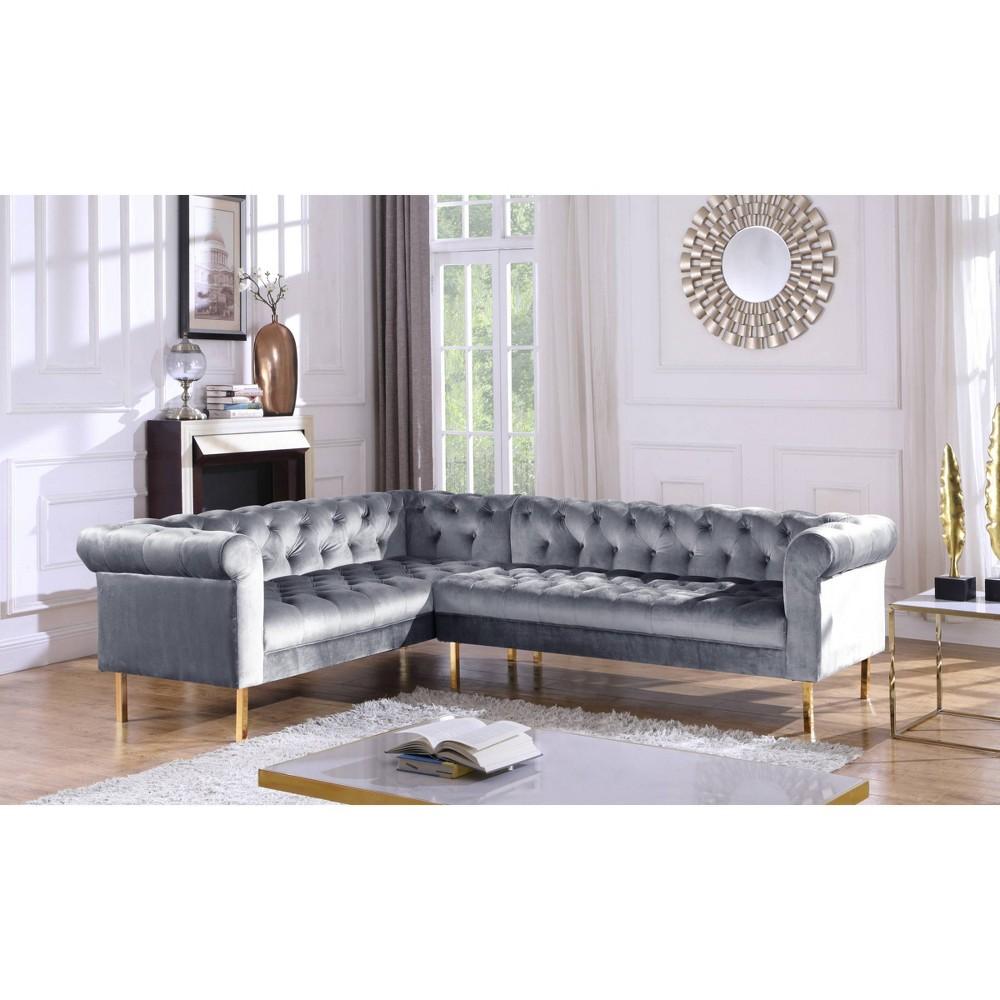 Julian Left Facing Sectional Sofa Gray Chic Home Design