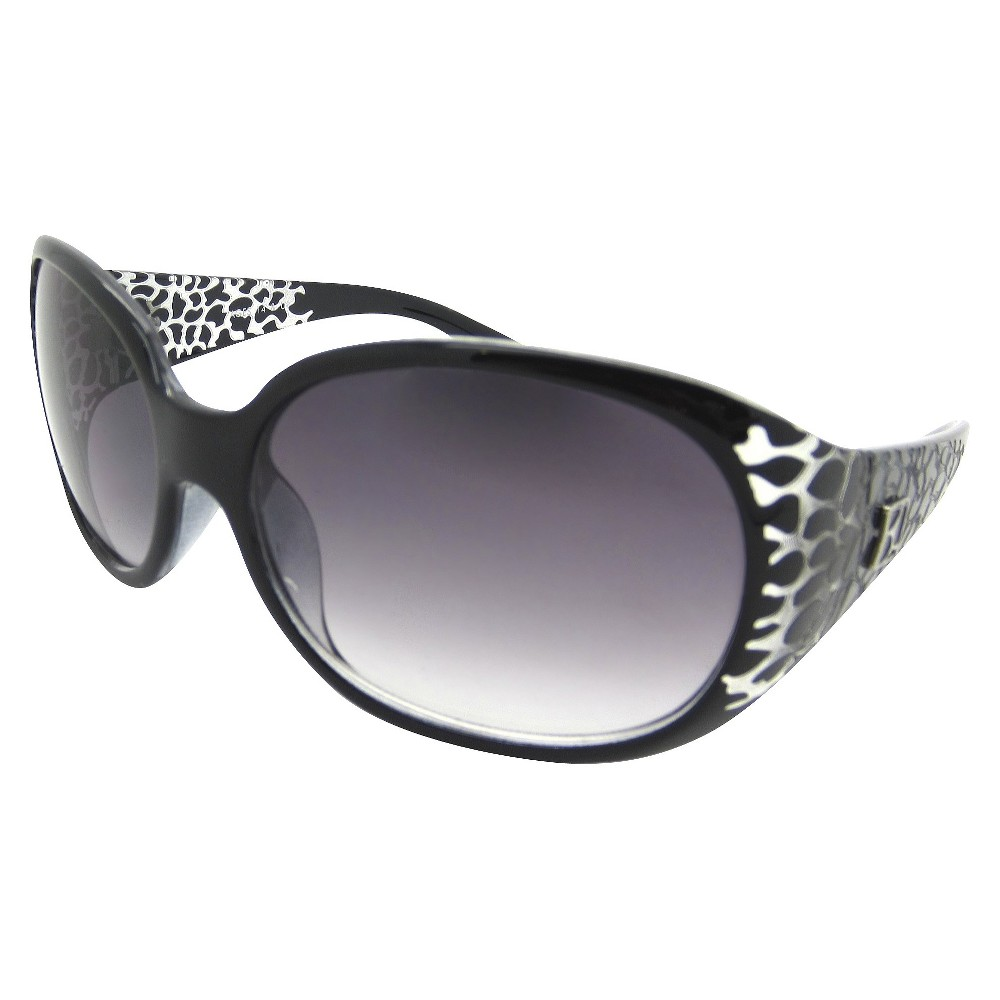 Women's Oval Sunglasses with Black & White Frame