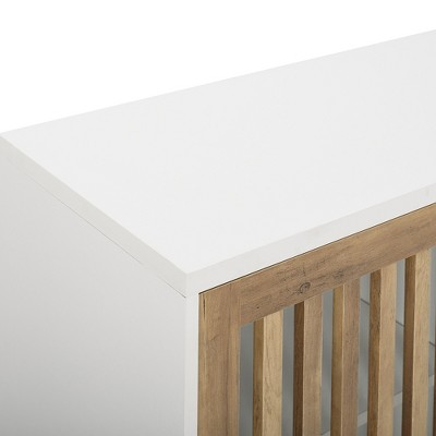 "Mid-Century Modern Sliding Slat Door TV Stand For TVs Up To 40"" - Saracina Home : Target"