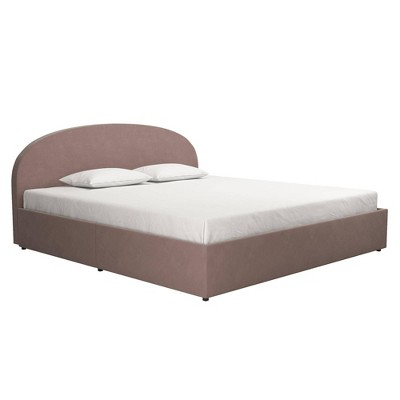 Size Moon Upholstered Bed Frame with Storage - Mr. Kate