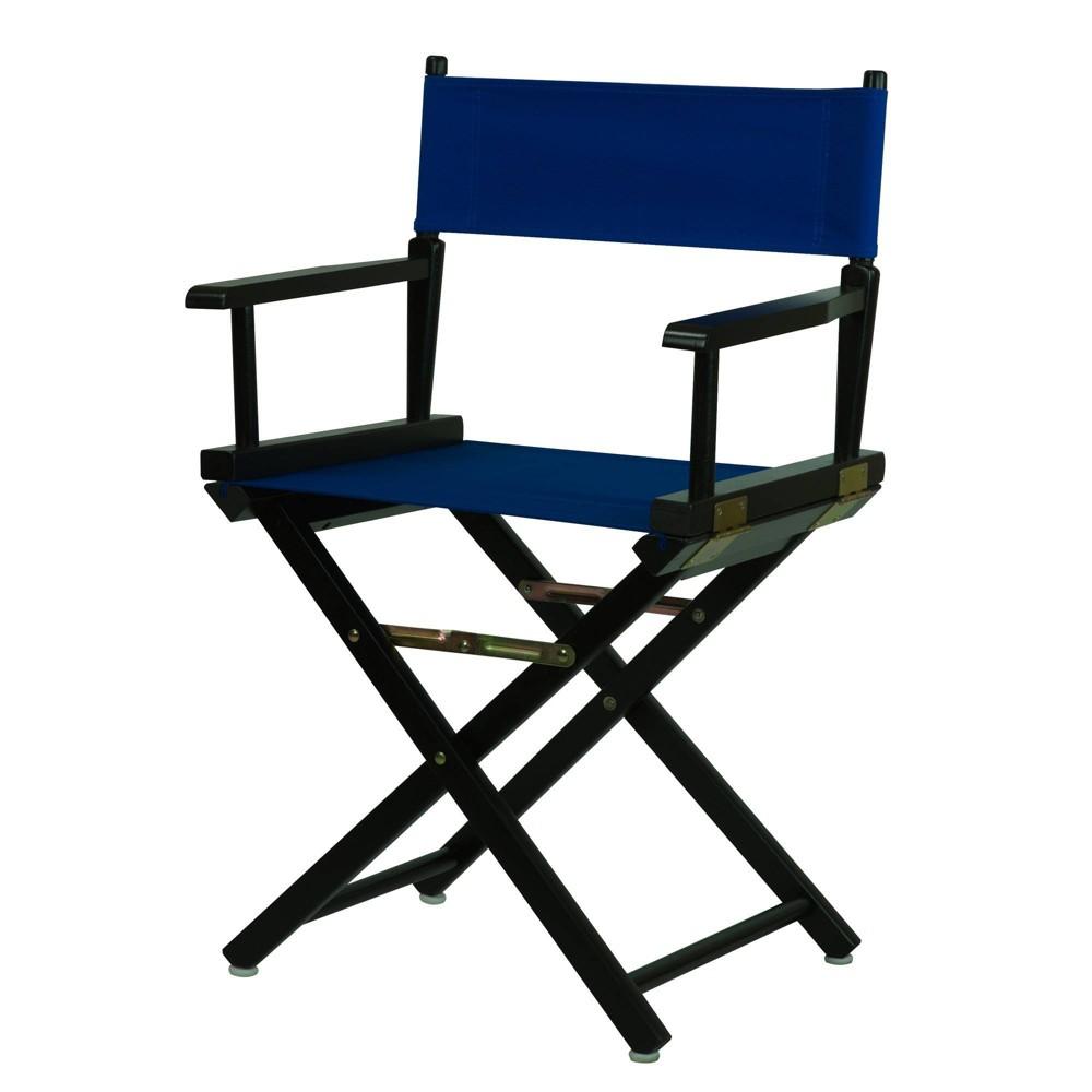 Director S Chair Black Frame Blue Canvas