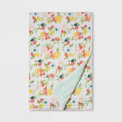 Muslin Quilt Blanket Floral Fields - Cloud Island™ Pink