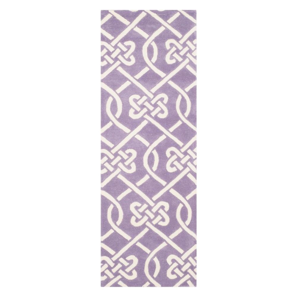 23X7 Geometric Tufted Runner Purple/Ivory - Safavieh Compare