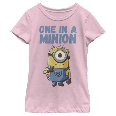 Girl's Despicable Me Cute One in a Minion T-Shirt