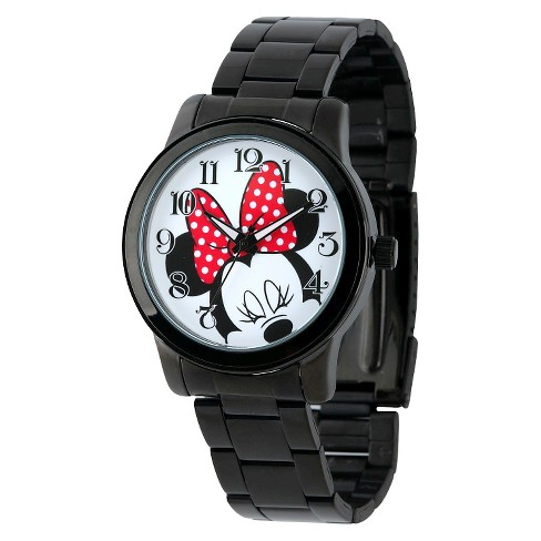 Men's Disney® Minnie Mouse Casual Watch with Alloy Case - Black - image 1 of 2