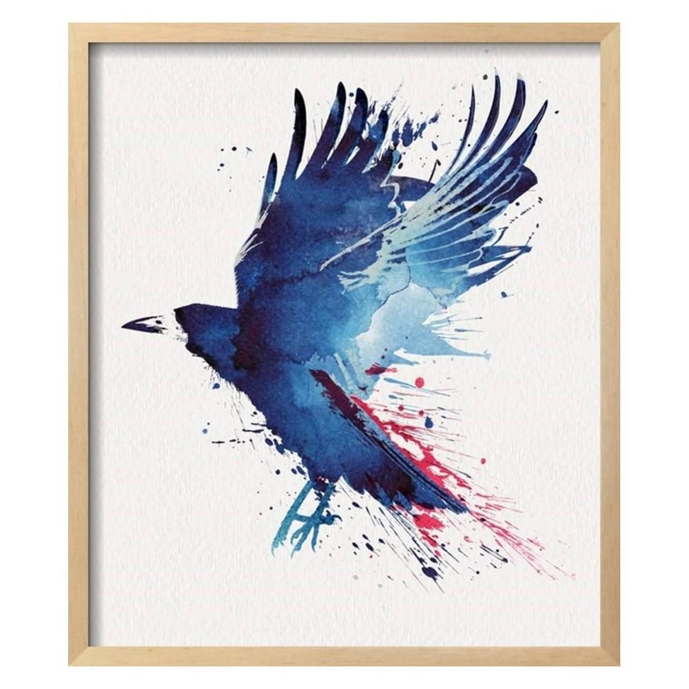 Bloody Crow By Robert Farkas Framed Wall Art Poster Print 21