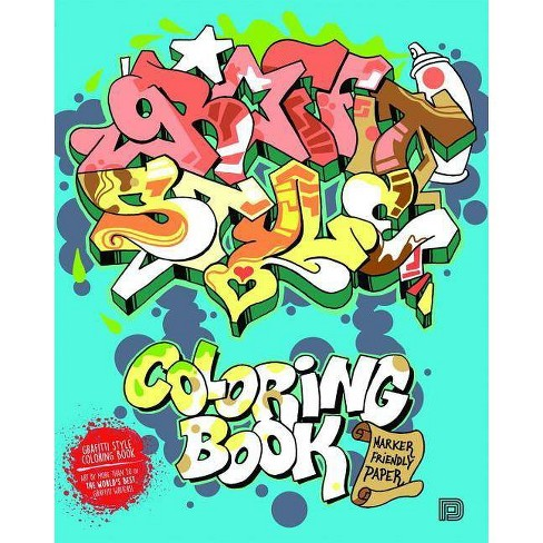 Graffiti Style Coloring Book - by  Tobias Barenthin Lindblad (Paperback) - image 1 of 1