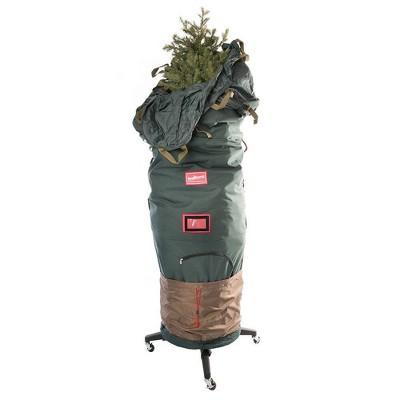 TreeKeeper Medium Upright Tree Storage Bag with Rolling Tree Stand