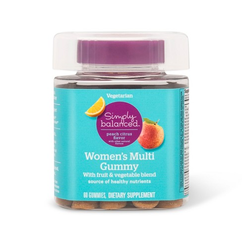 Women's Multivitamin Gummies - Peach Citrus - 60ct - Simply Balanced™ - image 1 of 1