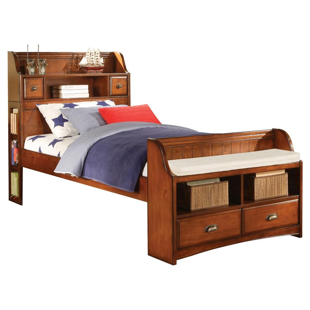 Brandon Kids Bed - Antique Oak (Brown)(Full) - Acme