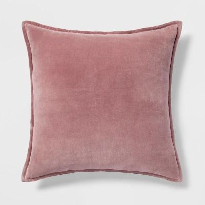 Velvet Square Throw Pillow Rose - Threshold™