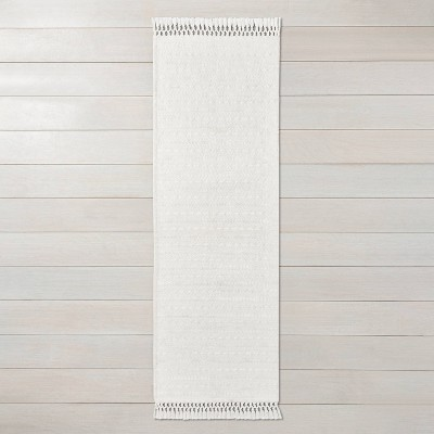 "2'4"" x 7' Pattern Stripe Area Runner Sour Cream - Hearth & Hand™ with Magnolia"