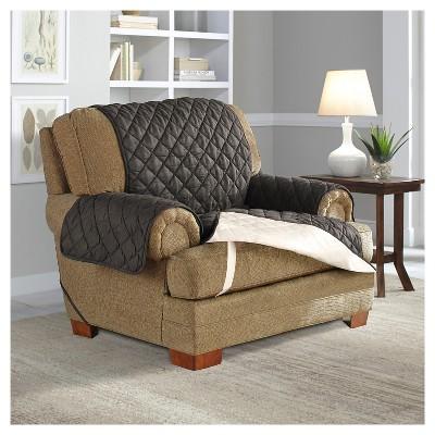 Ultra Microsuede Waterproof Furniture Protector Chair Slipcover   Serta :  Target