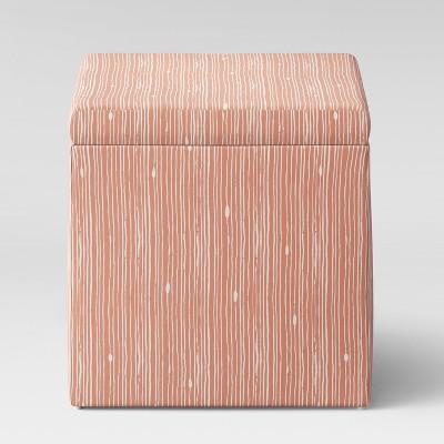 Plano Storage Ottoman Blush Shibori Stripes - Project 62™