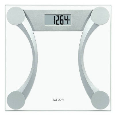 Curved Design Digital Glass Scale Clear - Taylor
