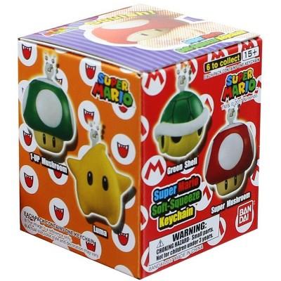 Banpresto Super Mario Bros. Blind Box Soft Squeeze Key Chain, One Random