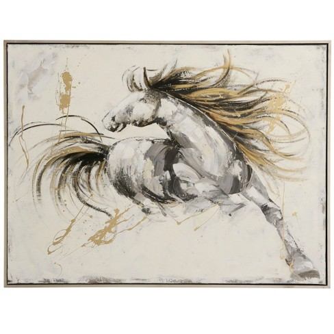 "37"" Horse Handpainted Decorative Wall Art - StyleCraft - image 1 of 2"