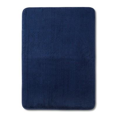 24  x 17  Velveteen Memory Foam Bath Rug Nighttime Blue - Room Essentials™