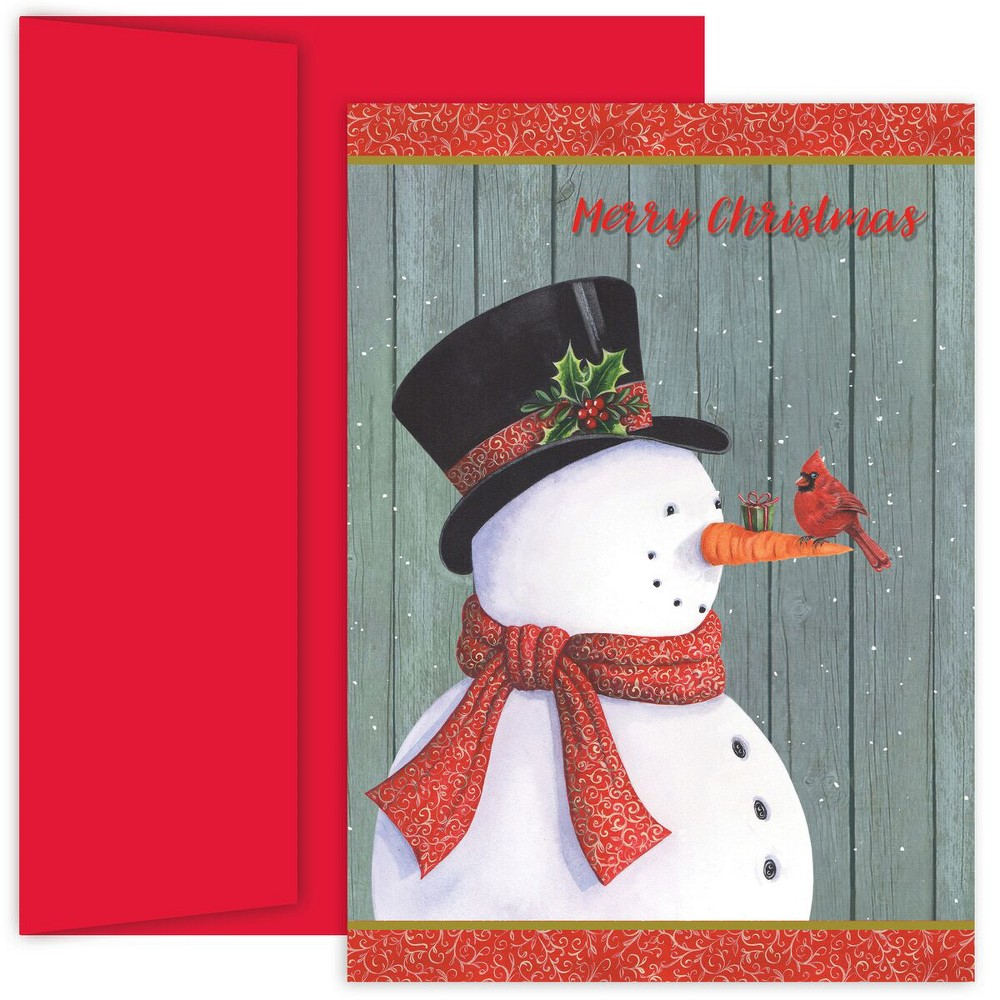 18ct Classy Snowman Cards - Canopy Street, Multi-Colored