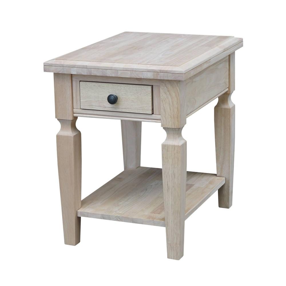 Vista End Table - Natural - International Concepts, Brown