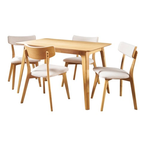 Megann 5pc Mid-Century Dining Set - Christopher Knight Home - image 1 of 4