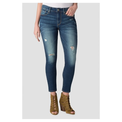 DENIZEN® from Levi's® Women's High Rise Ankle Skinny Jeans - Dark Wash - image 1 of 5