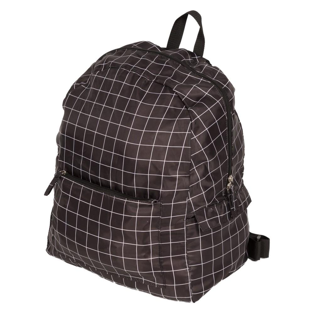 Image of Fold Up Backpack - Blue, Black