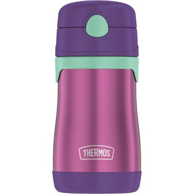 Thermos 10oz Stainless Steel Straw Bottle Purple