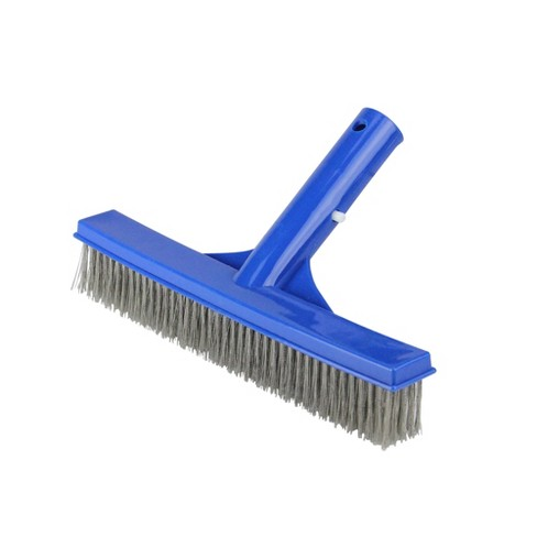 "Pool Central Stainless Steel Algae Brush for Cement Pools 9.75"" - Blue - image 1 of 3"