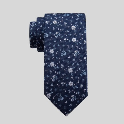 Men's Mina Floral Print Tie - Goodfellow & Co™ Navy One Size