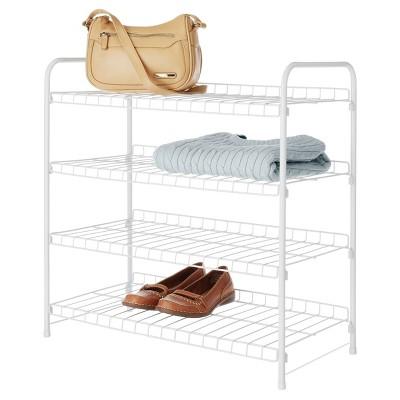 Whitmor 4 Tier Closet Shelves   White