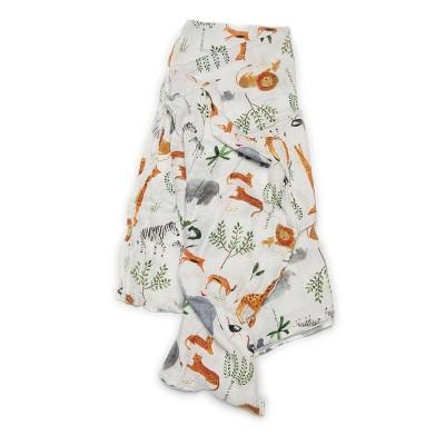 Loulou Lollipop Muslin Swaddle Blanket - Safari Jungle