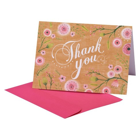 Thank You Card Pack 10 ct CARLTON Thank You - image 1 of 1