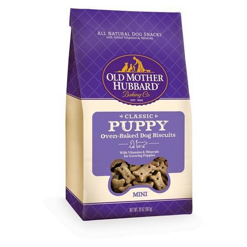 Old Mother Hubbard Classic Crunchy Puppy Biscuits Mini Oven Baked Dog Treats - 20oz - image 1 of 4