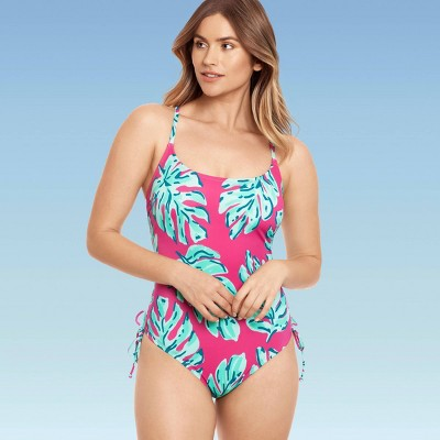 Women's Slimming Control Side-Tie One Piece Swimsuit - Beach Betty by Miracle Brands